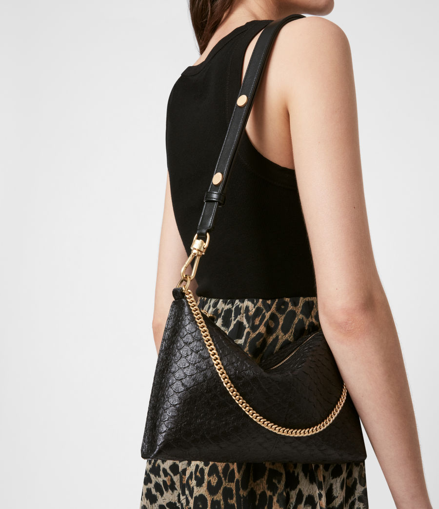 Women's Eve Leather Crossbody Bag (black_python) - Image 4