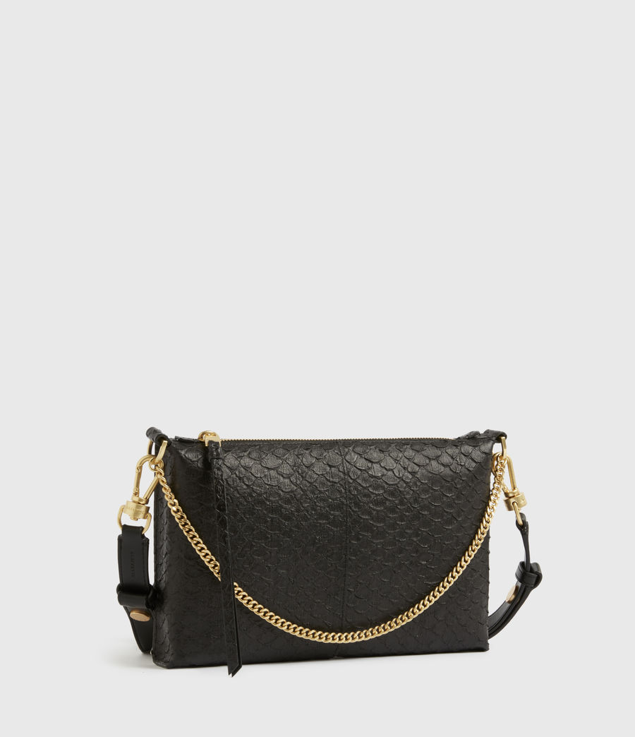 Women's Eve Leather Crossbody Bag (black_python) - Image 5