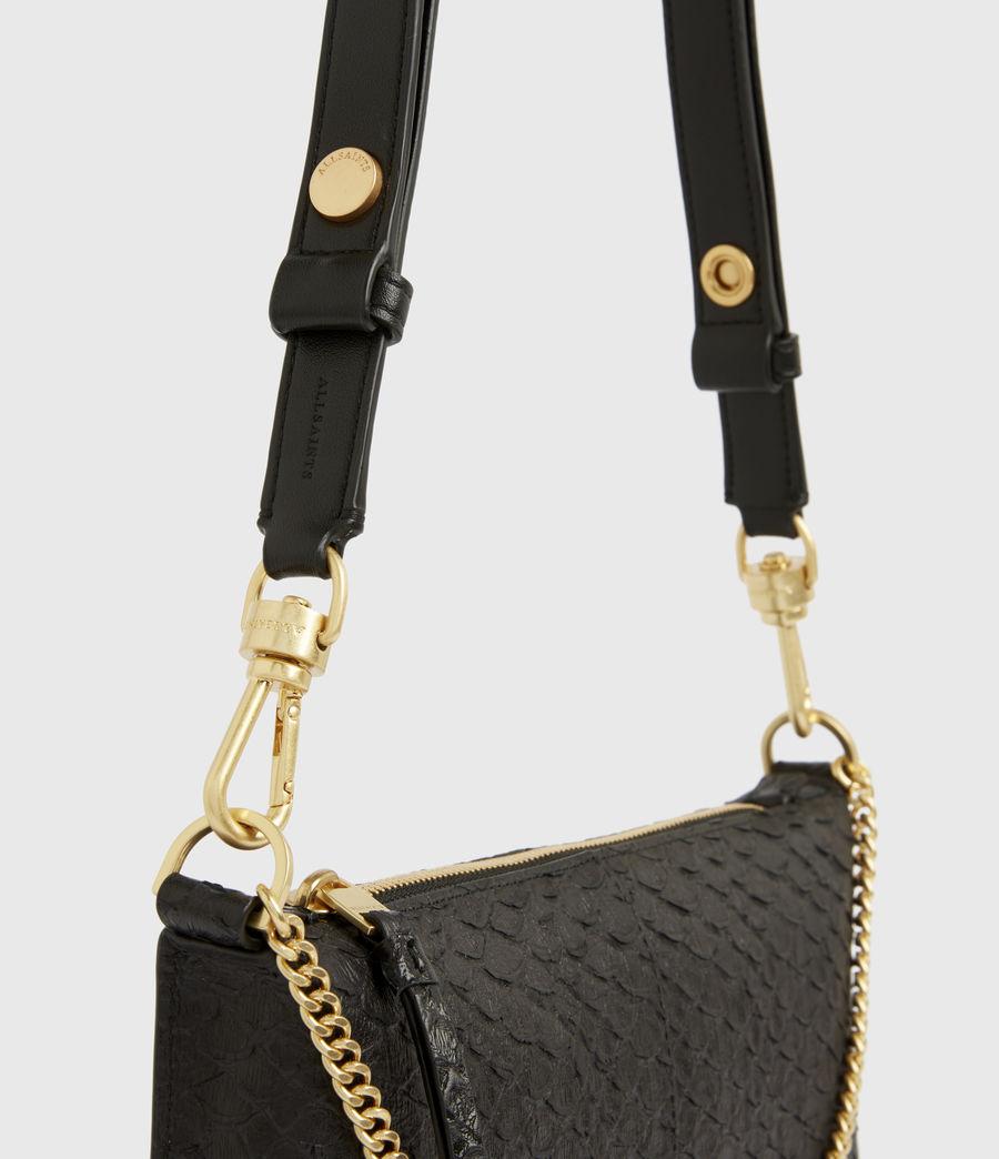 Women's Eve Leather Crossbody Bag (black_python) - Image 6