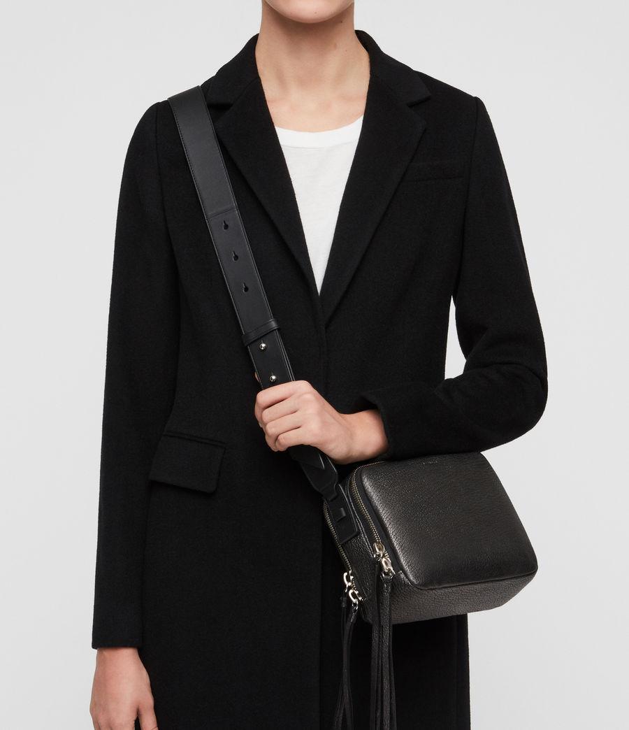 Women's Vincent Leather Crossbody Bag (gunmetal_grey) - Image 2