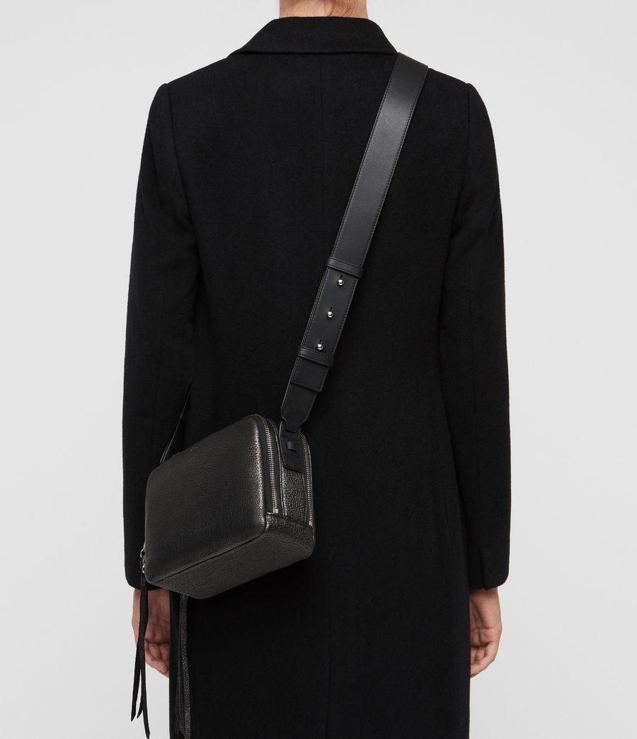 Women's Vincent Leather Crossbody Bag (gunmetal_grey) - Image 3