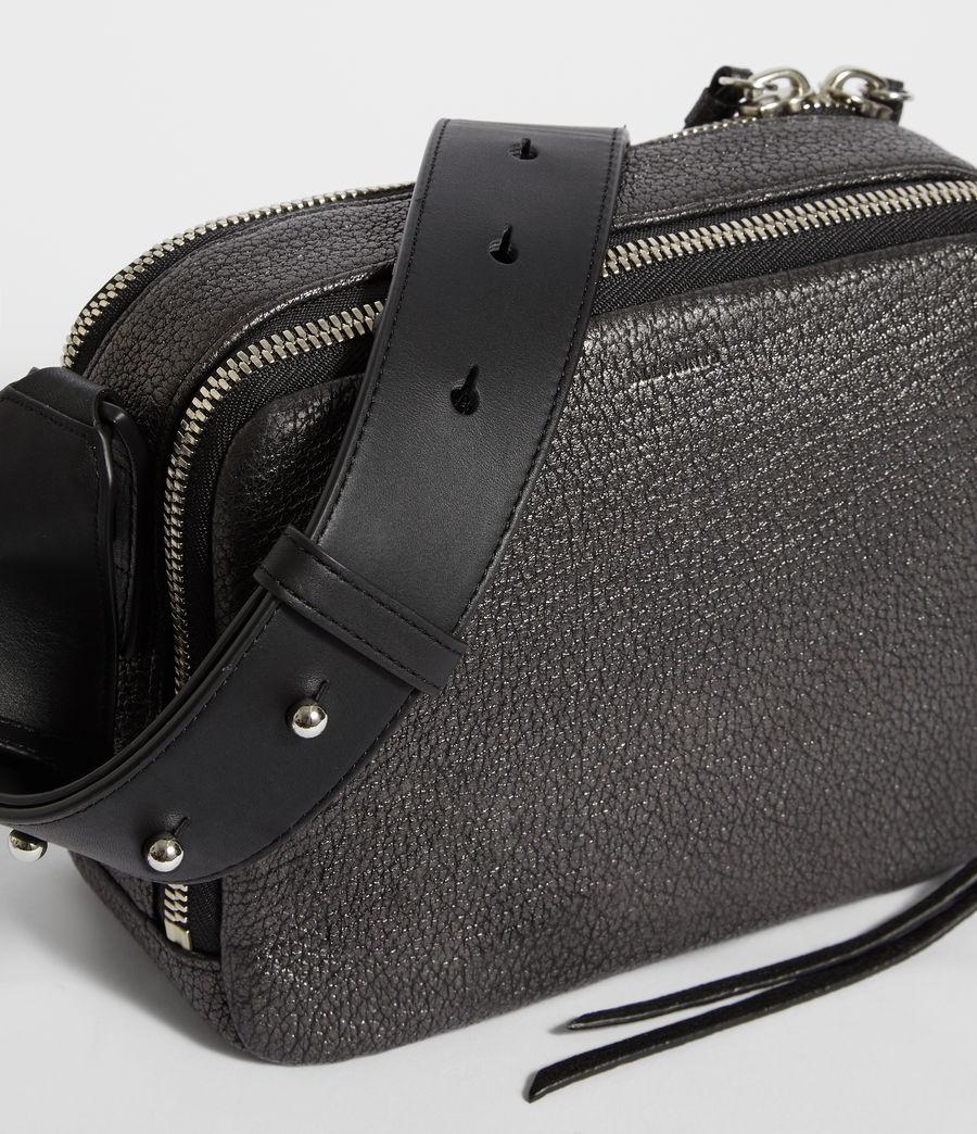 Women's Vincent Leather Crossbody Bag (gunmetal_grey) - Image 4