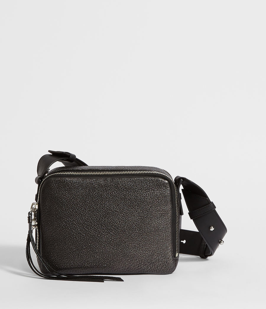 Women's Vincent Leather Crossbody Bag (gunmetal_grey) - Image 7