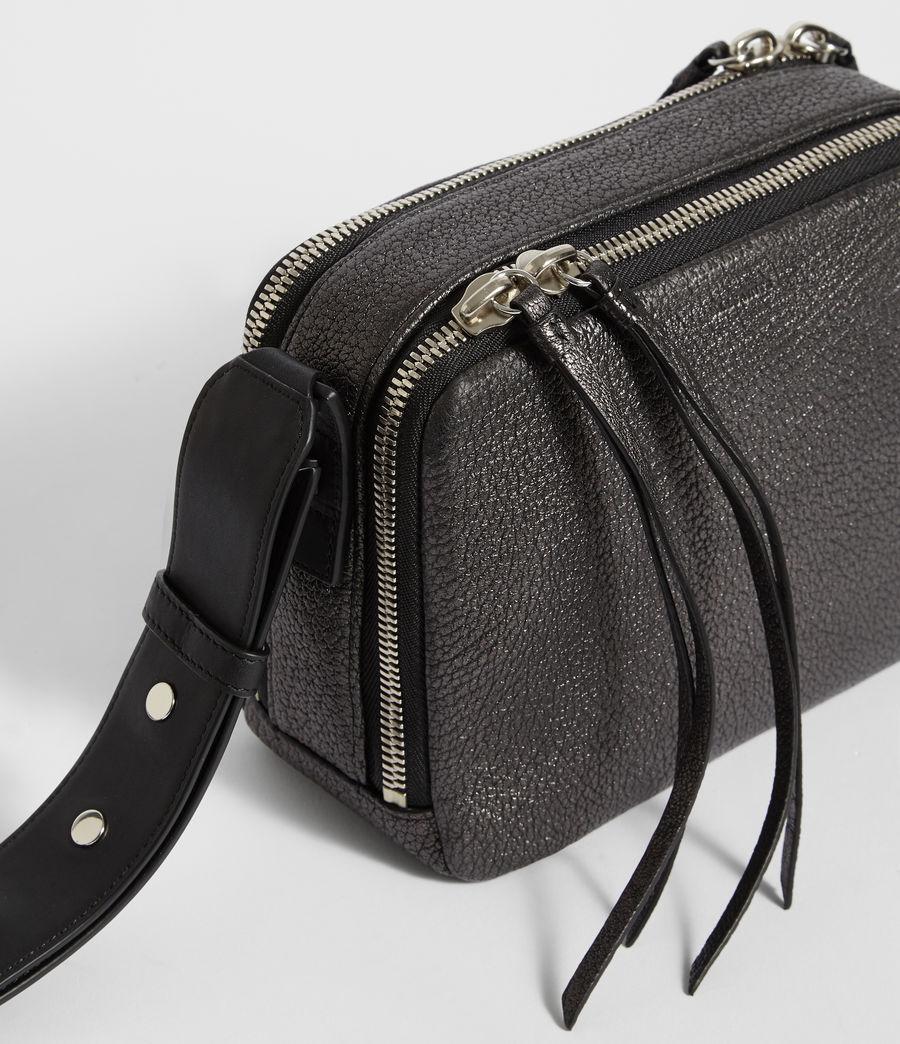 Women's Vincent Leather Crossbody Bag (gunmetal_grey) - Image 8