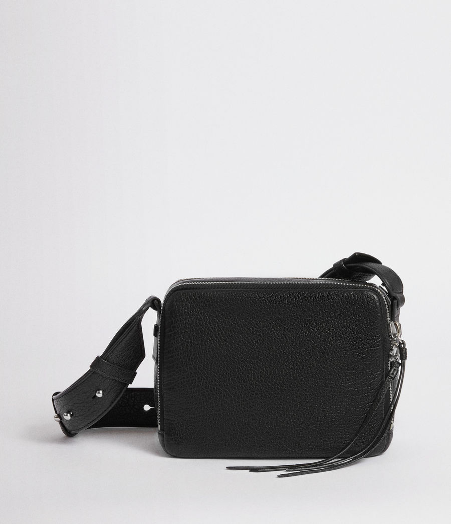 3052f2db9302 Womens Vincent Leather Crossbody Bag (black) - Image 1