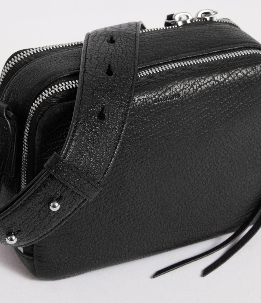 Womens Vincent Leather Crossbody Bag (black) - Image 3