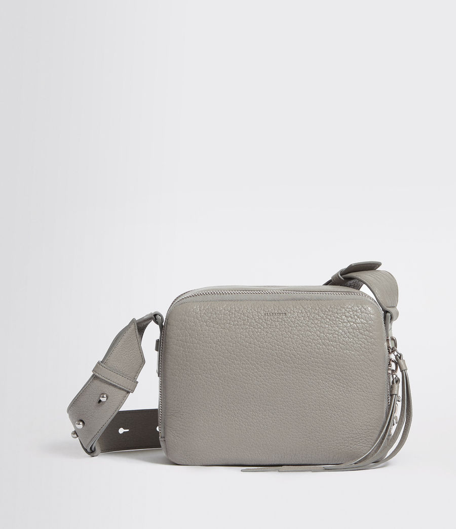 Women's Vincent Leather Crossbody Bag (blue_grey) - Image 1