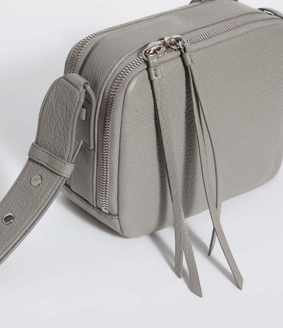 Women's Vincent Leather Crossbody Bag (blue_grey) - Image 3