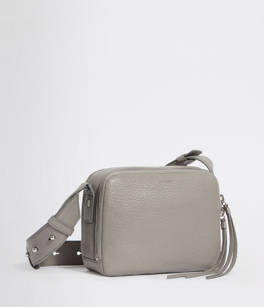 Women's Vincent Leather Crossbody Bag (blue_grey) - Image 4