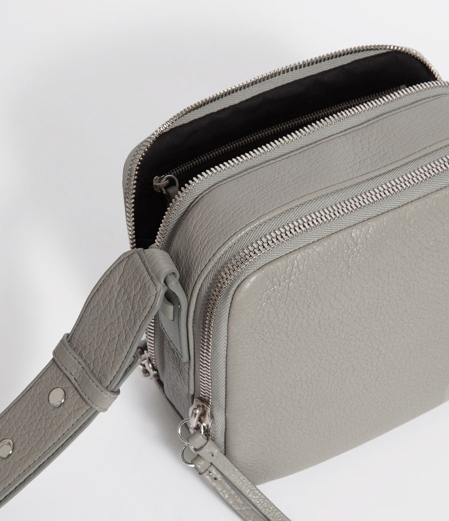 Women's Vincent Leather Crossbody Bag (blue_grey) - Image 6