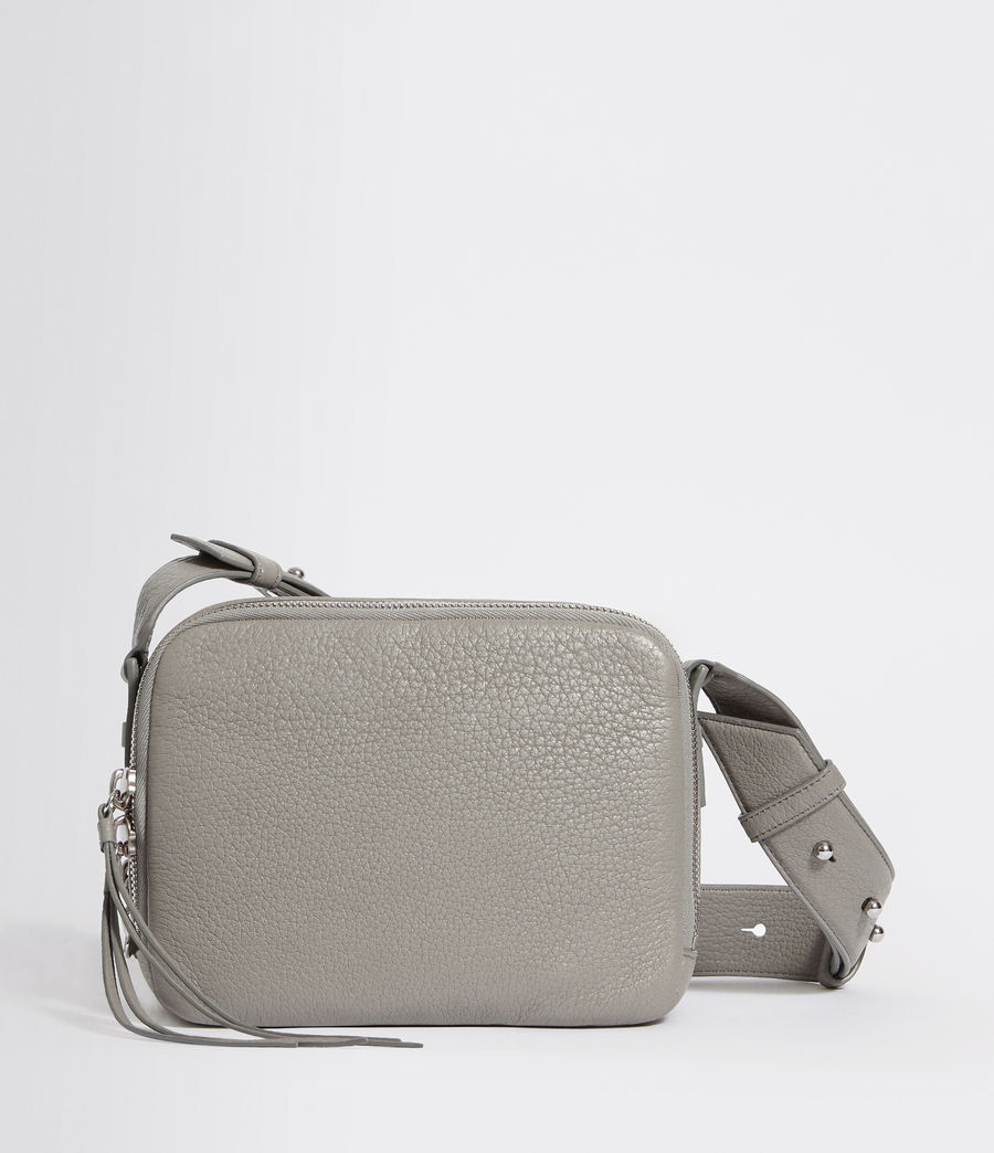 Women's Vincent Leather Crossbody Bag (blue_grey) - Image 7