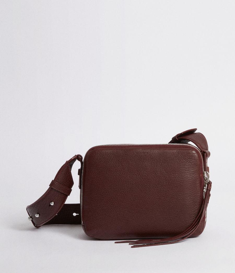 Women's Vincent Leather Crossbody Bag (port_burgundy) - Image 1