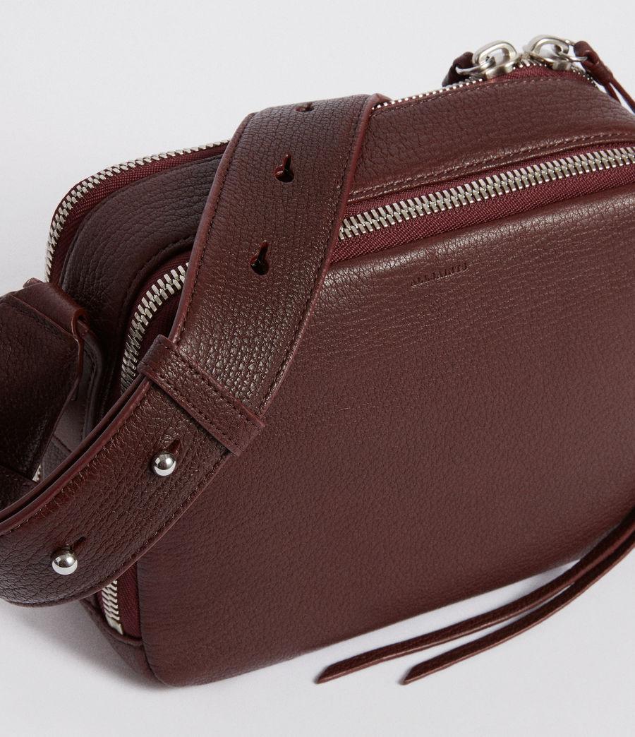 Women's Vincent Leather Crossbody Bag (port_burgundy) - Image 3