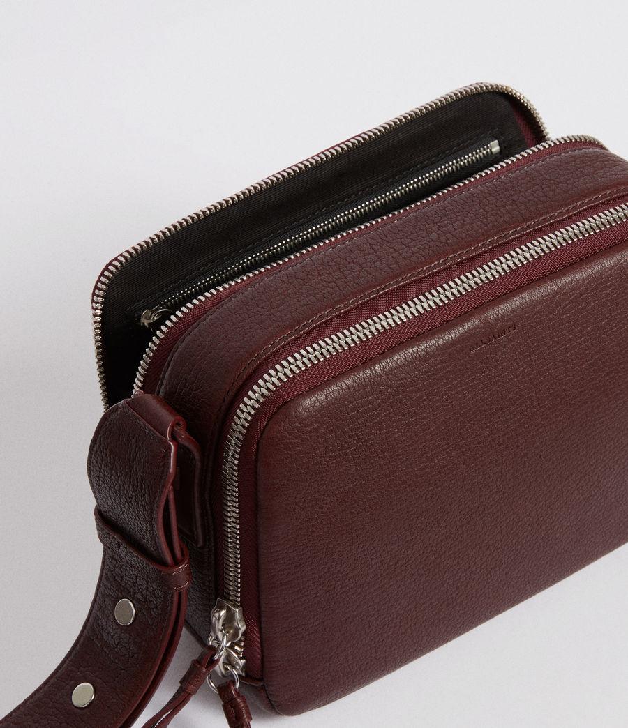 Women's Vincent Leather Crossbody Bag (port_burgundy) - Image 4