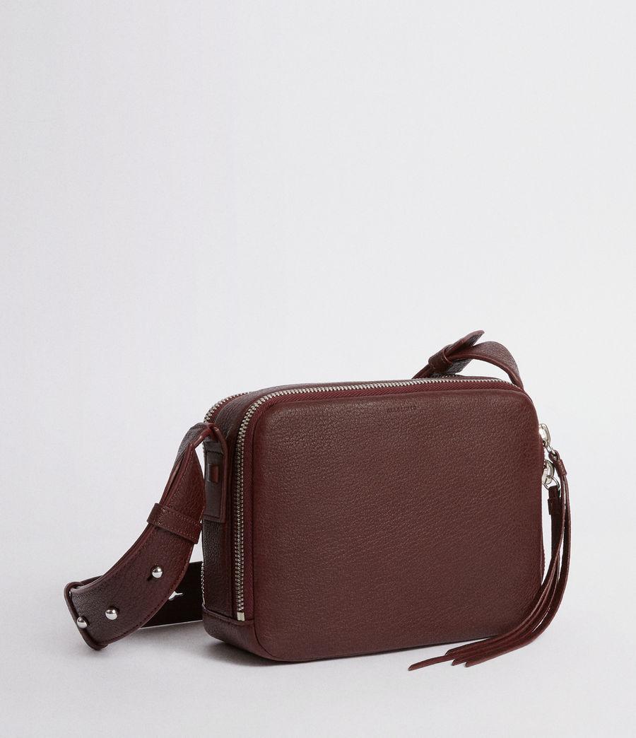 Women's Vincent Leather Crossbody Bag (port_burgundy) - Image 5