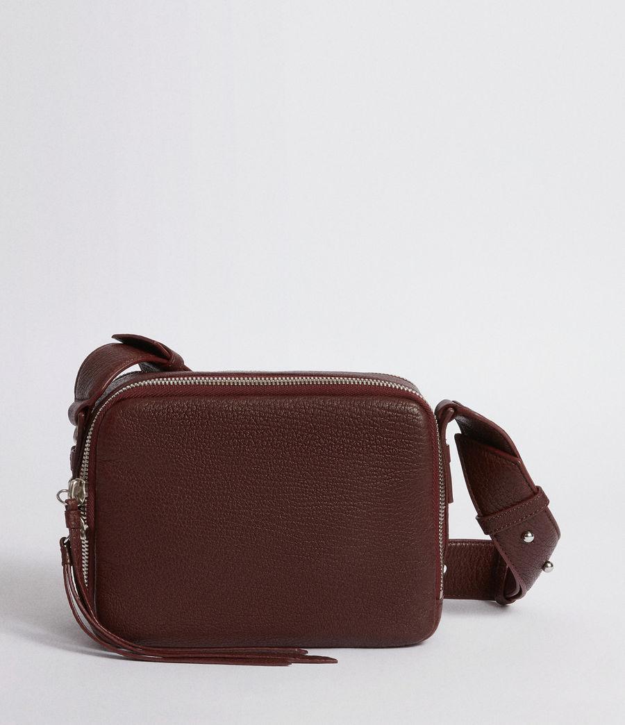 Women's Vincent Leather Crossbody Bag (port_burgundy) - Image 6