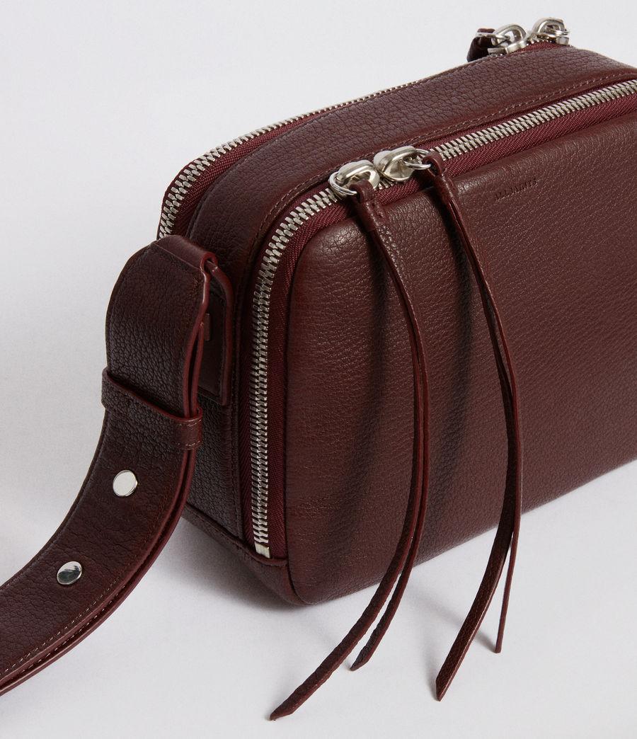 Women's Vincent Leather Crossbody Bag (port_burgundy) - Image 7