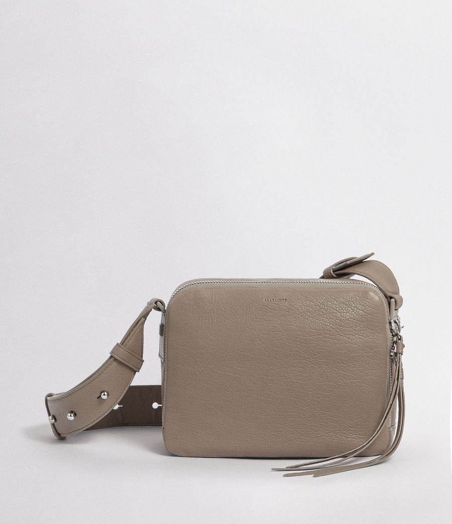 Womens Vincent Leather Crossbody Bag (natural_grey) - Image 1