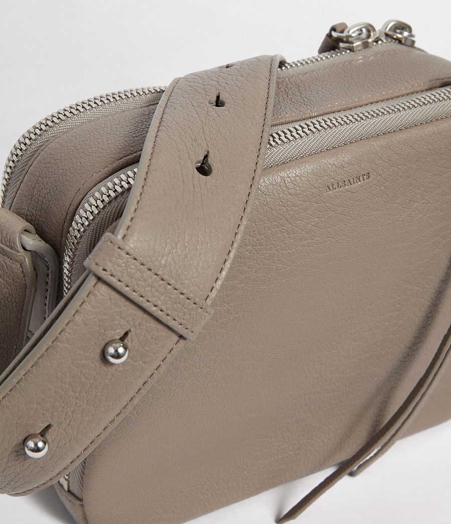 Womens Vincent Leather Crossbody Bag (natural_grey) - Image 3