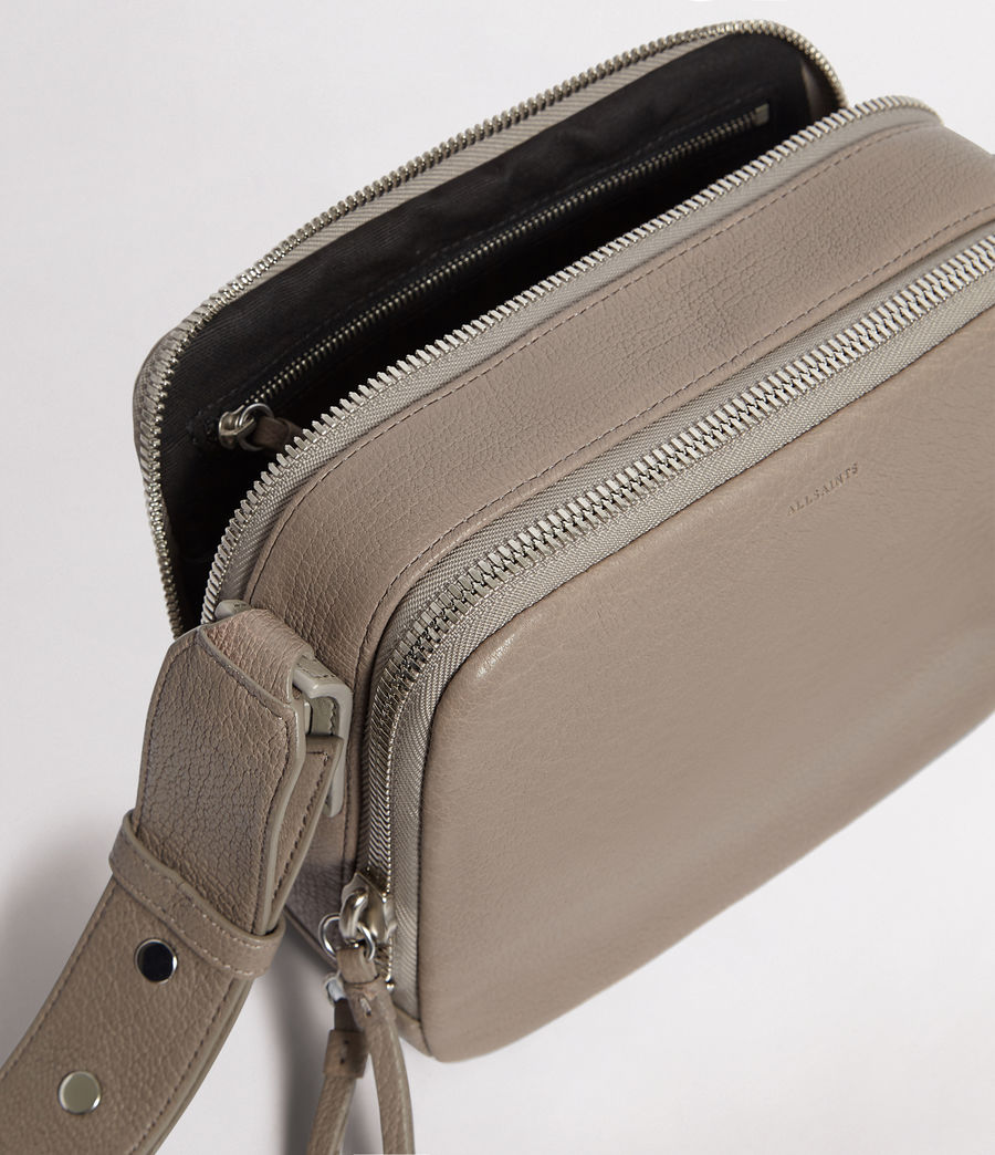 Womens Vincent Leather Crossbody Bag (natural_grey) - Image 4