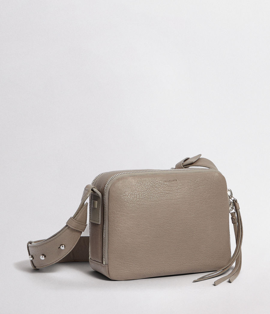 Womens Vincent Leather Crossbody Bag (natural_grey) - Image 5