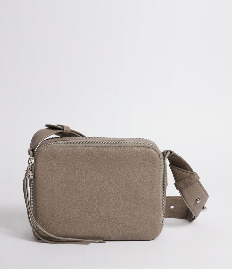 Womens Vincent Leather Crossbody Bag (natural_grey) - Image 6