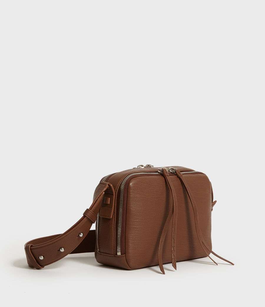 Womens Vincent Leather Crossbody Bag (chocolate_brown) - Image 2