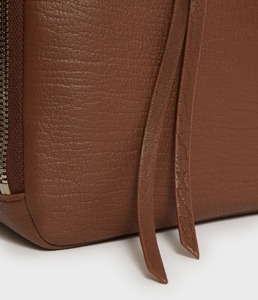 Womens Vincent Leather Crossbody Bag (chocolate_brown) - Image 3