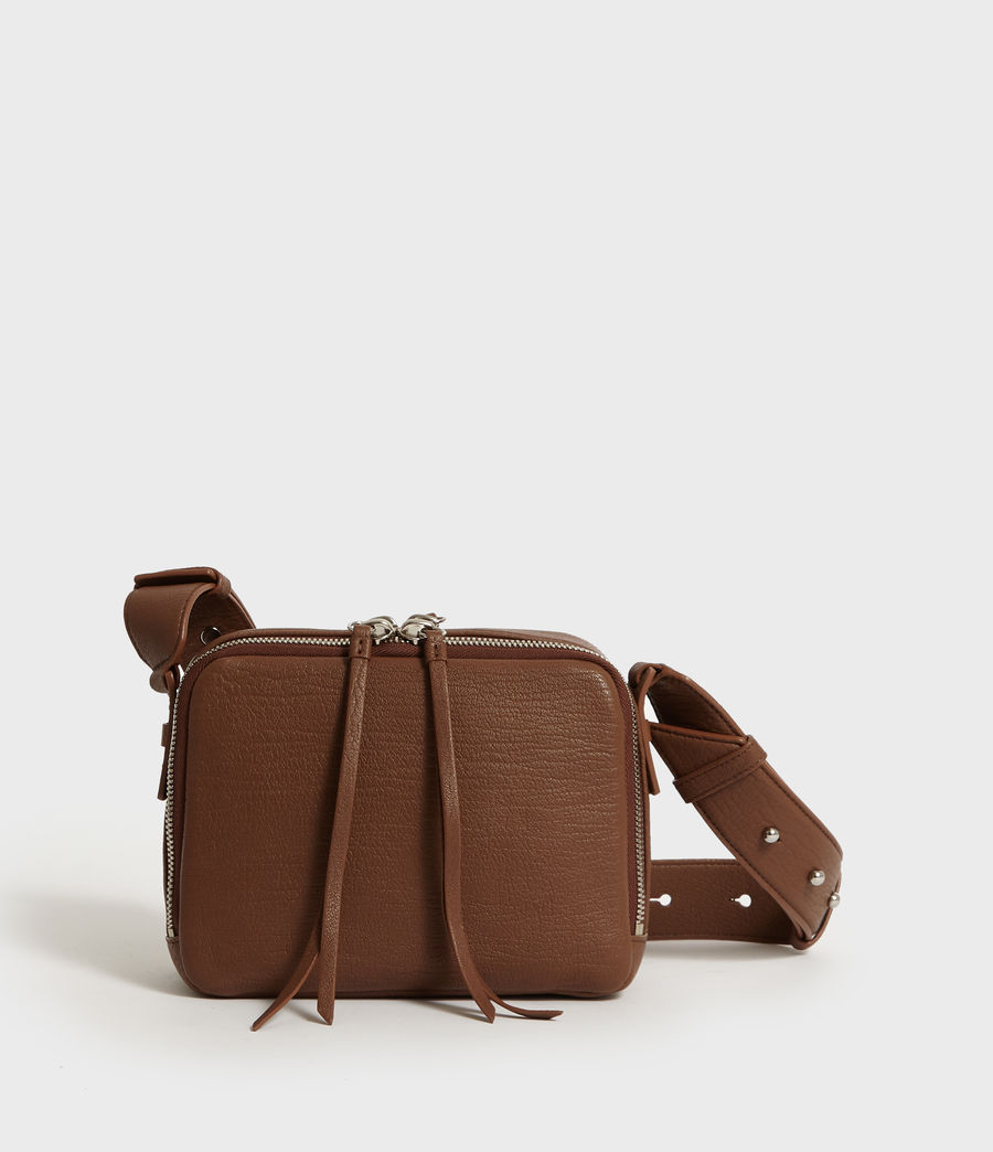 Womens Vincent Leather Crossbody Bag (chocolate_brown) - Image 6