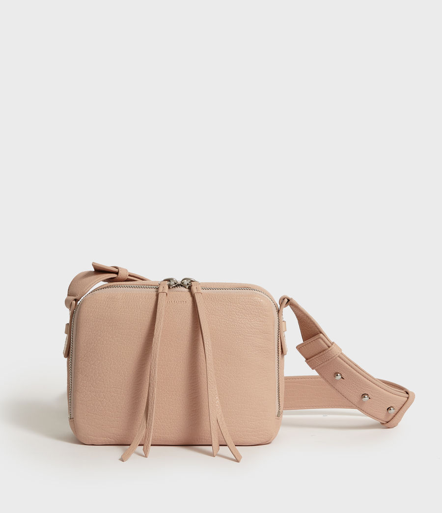 Womens Vincent Leather Crossbody Bag (peach_pink) - Image 1
