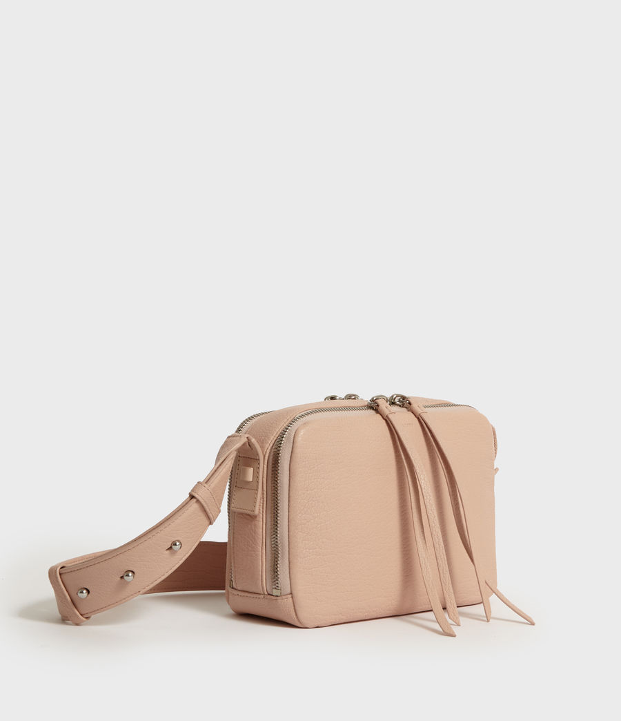 Womens Vincent Leather Crossbody Bag (peach_pink) - Image 2