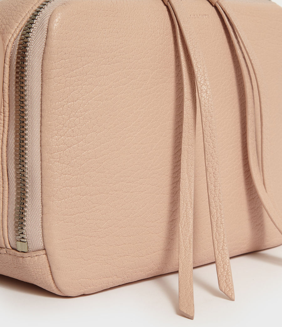 Womens Vincent Leather Crossbody Bag (peach_pink) - Image 3