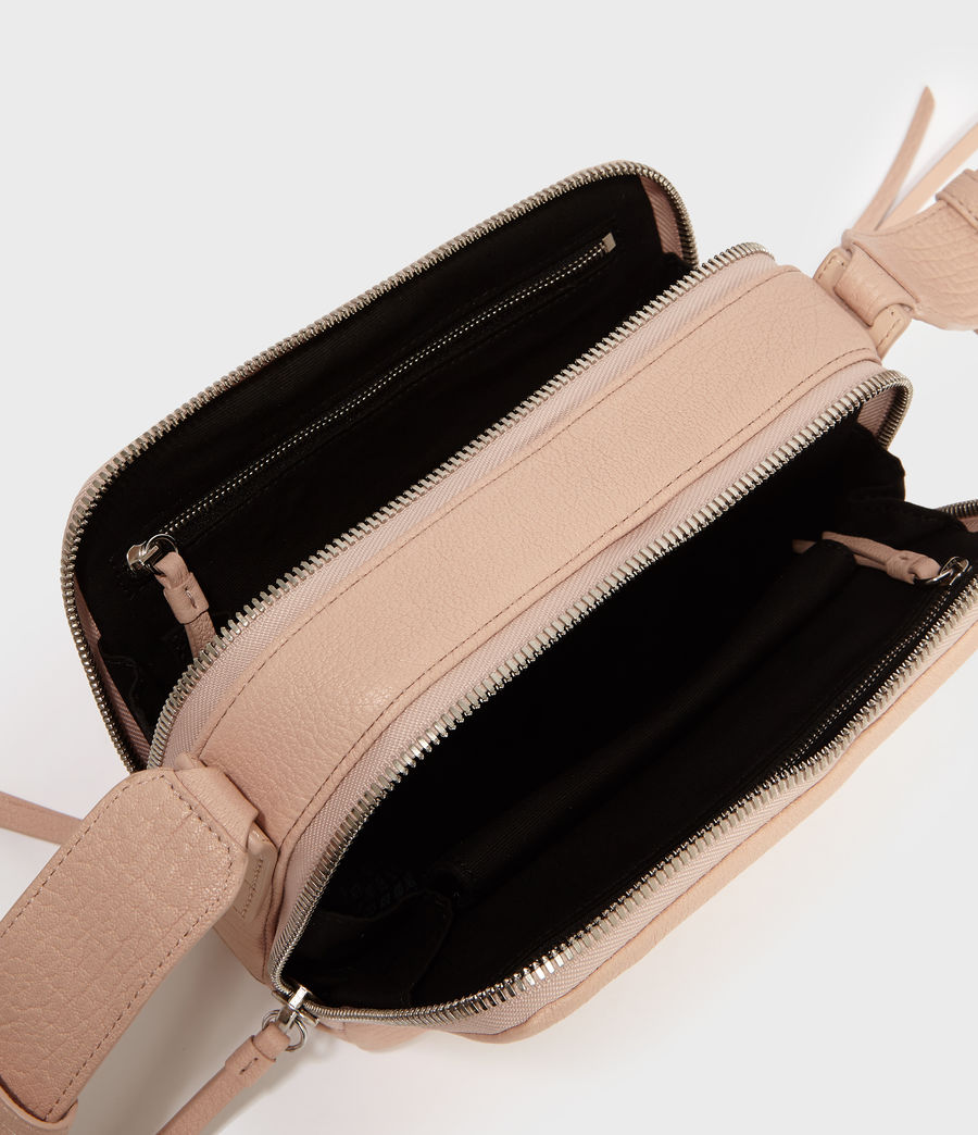 Womens Vincent Leather Crossbody Bag (peach_pink) - Image 5