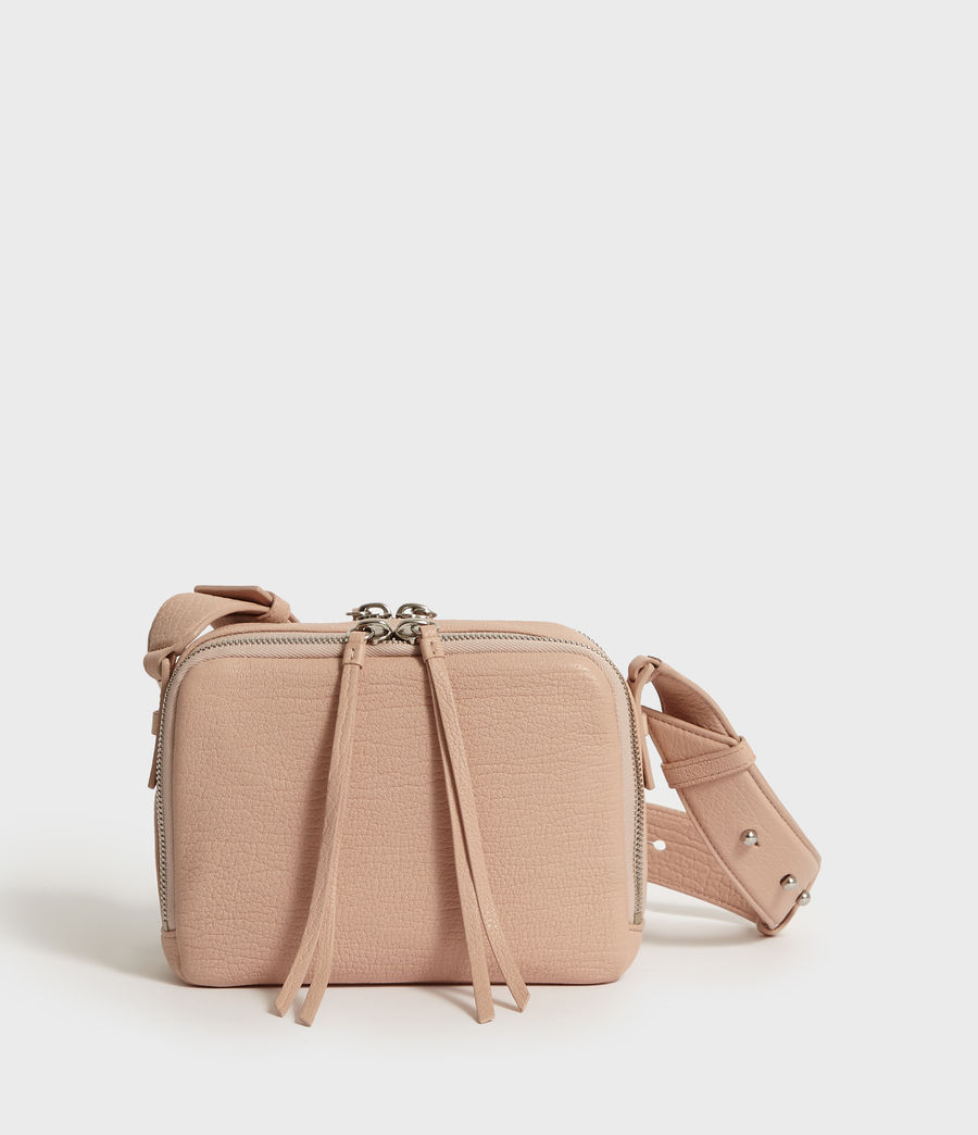 Womens Vincent Leather Crossbody Bag (peach_pink) - Image 6