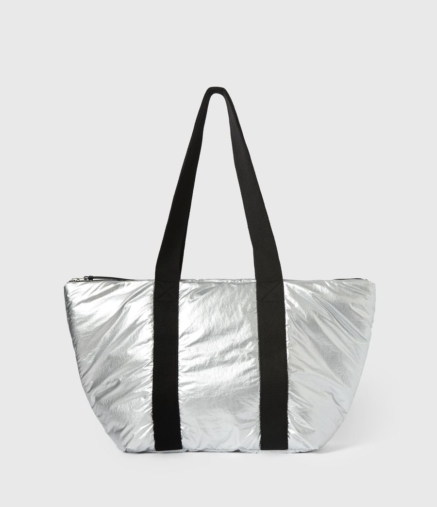 Womens Sly East West Tote Bag (silver) - Image 2