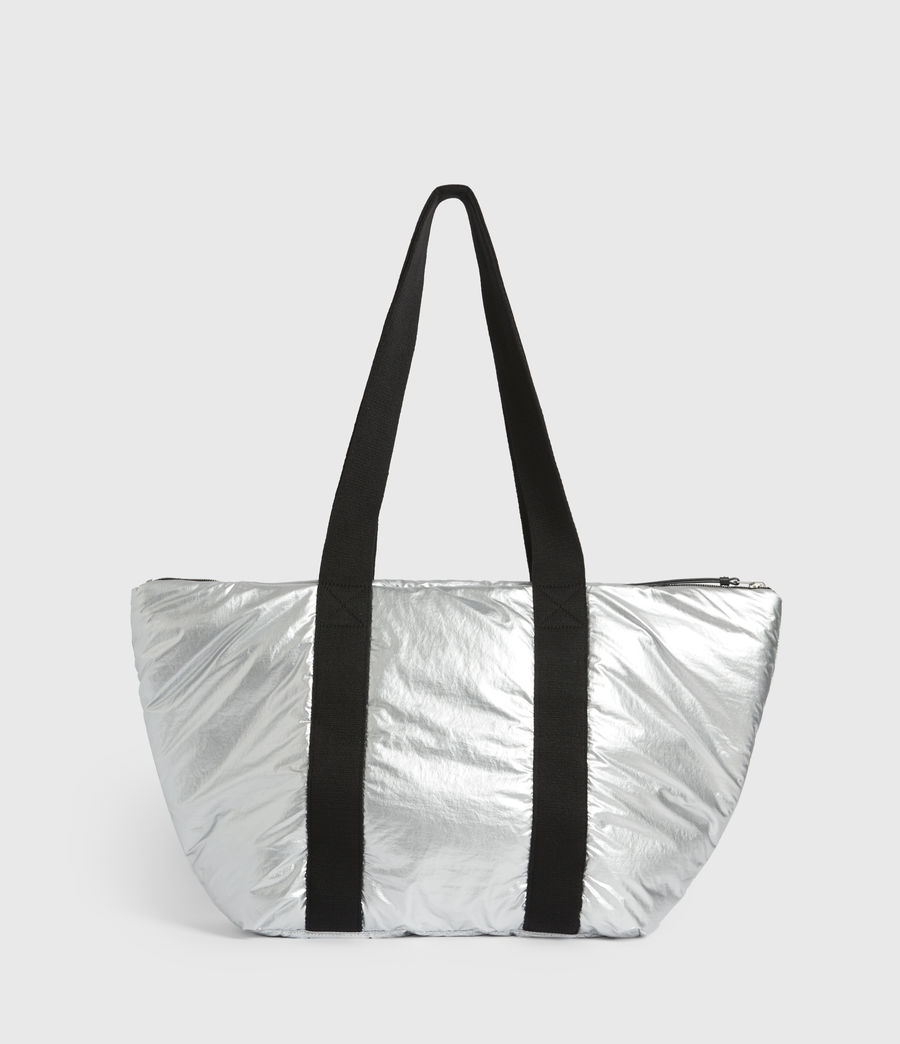 Womens Sly East West Tote Bag (silver) - Image 7