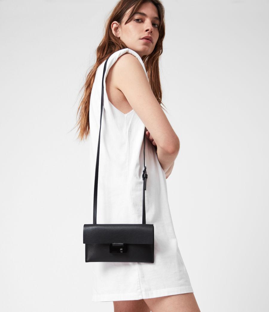 Women's Francoise Leather Crossbody Bag (black) - Image 1
