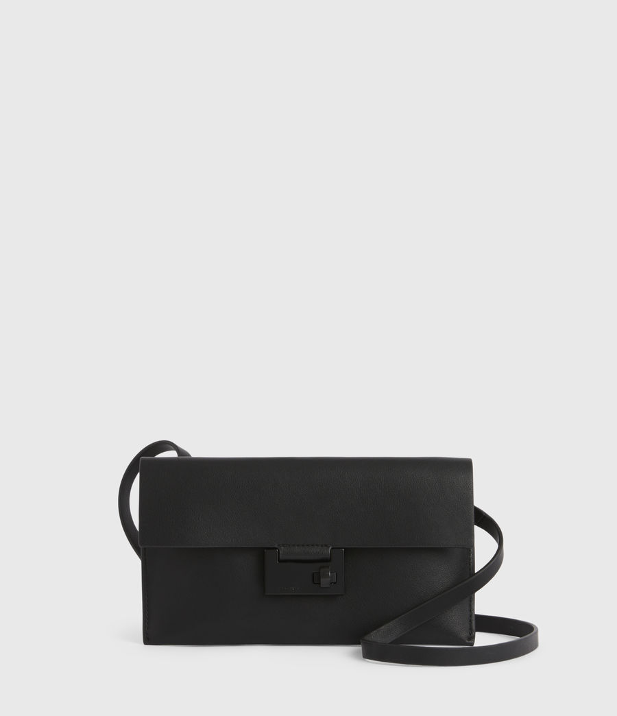Women's Francoise Leather Crossbody Bag (black) - Image 2