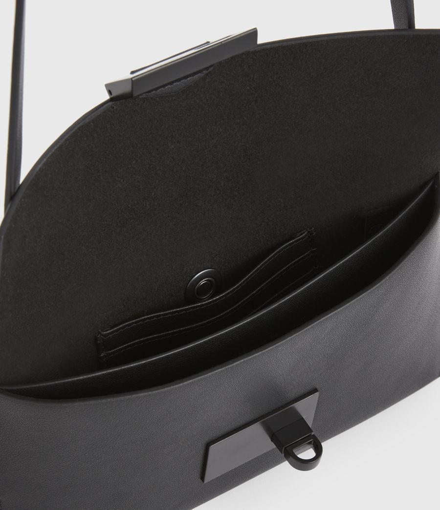 Women's Francoise Leather Crossbody Bag (black) - Image 3
