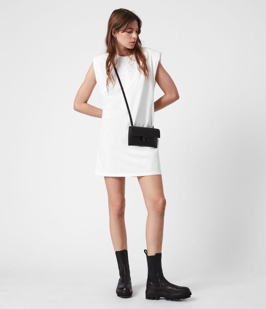 Women's Francoise Leather Crossbody Bag (black) - Image 4