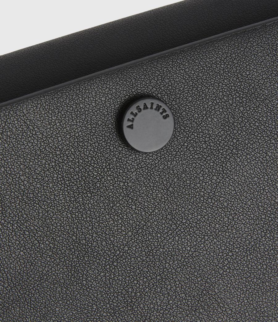 Women's Francoise Leather Crossbody Bag (black) - Image 7
