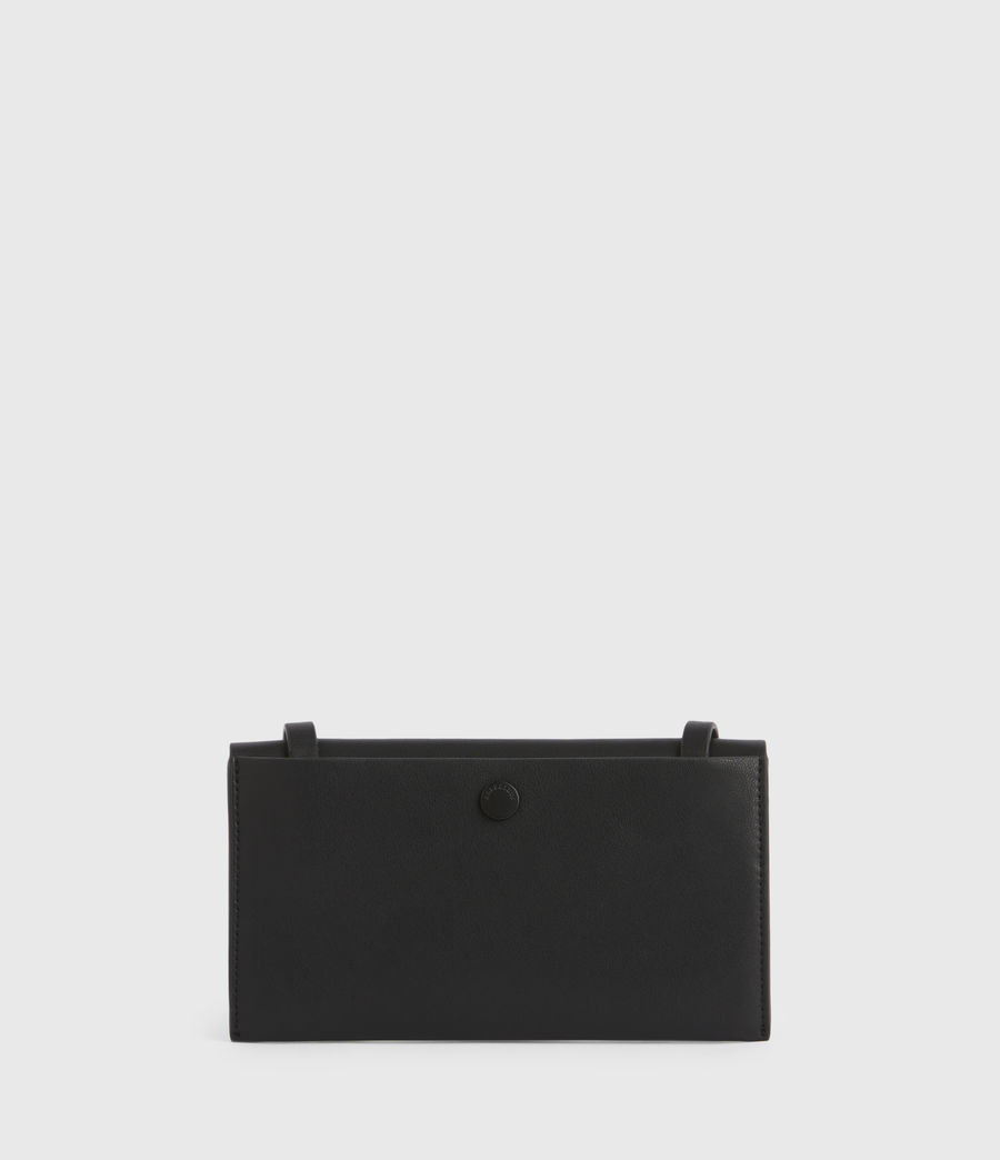 Women's Francoise Leather Crossbody Bag (black) - Image 8