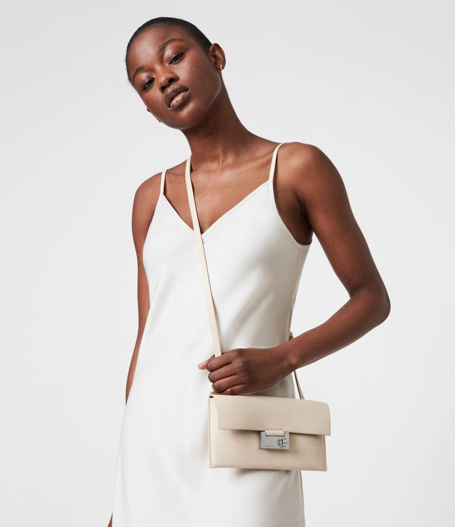 Women's Francoise Leather Crossbody Bag (parchment_white) - Image 1