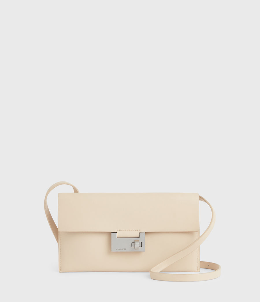 Women's Francoise Leather Crossbody Bag (parchment_white) - Image 2