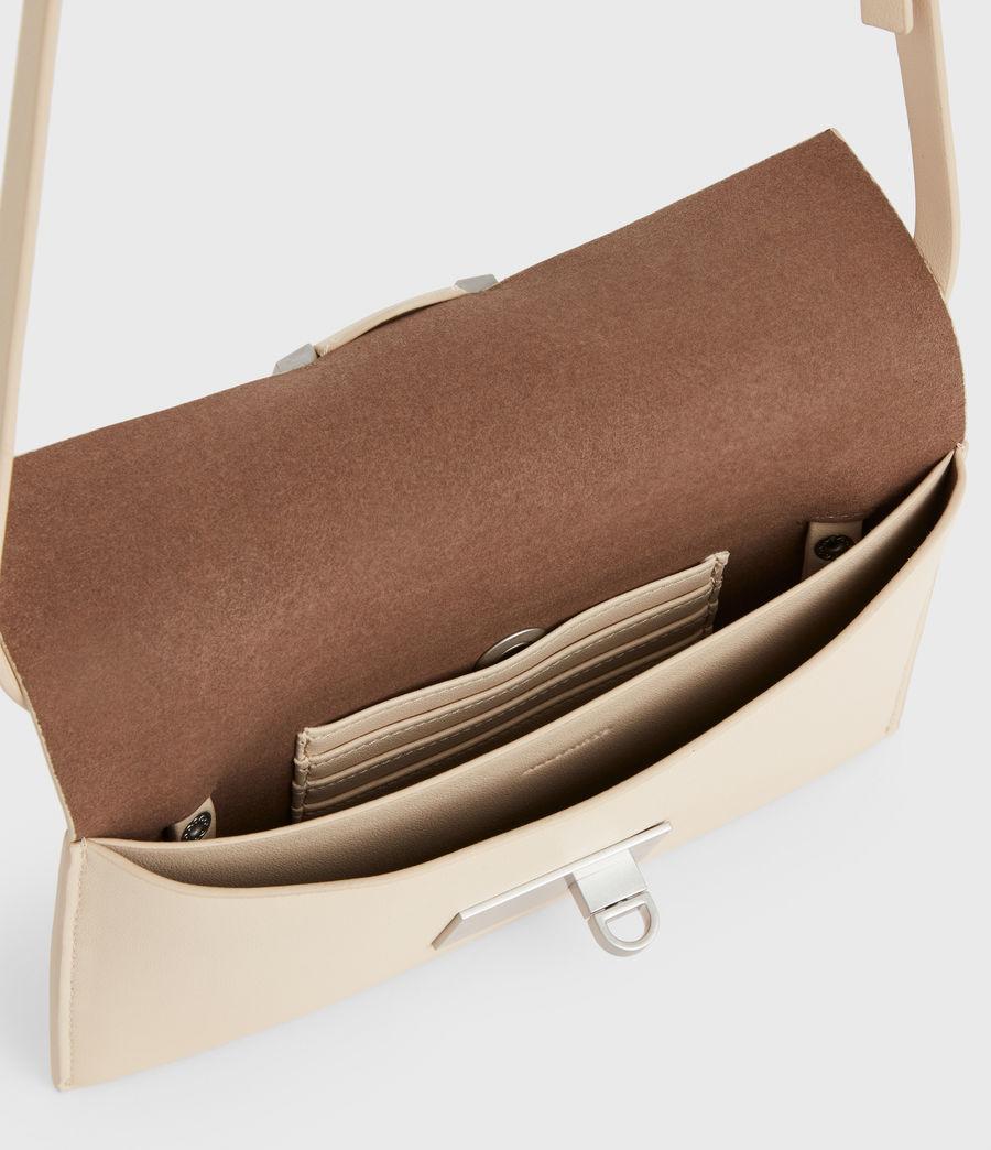 Women's Francoise Leather Crossbody Bag (parchment_white) - Image 3