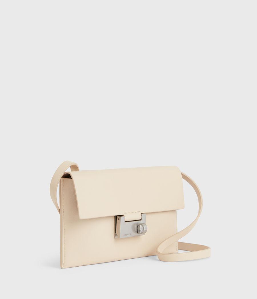 Women's Francoise Leather Crossbody Bag (parchment_white) - Image 5