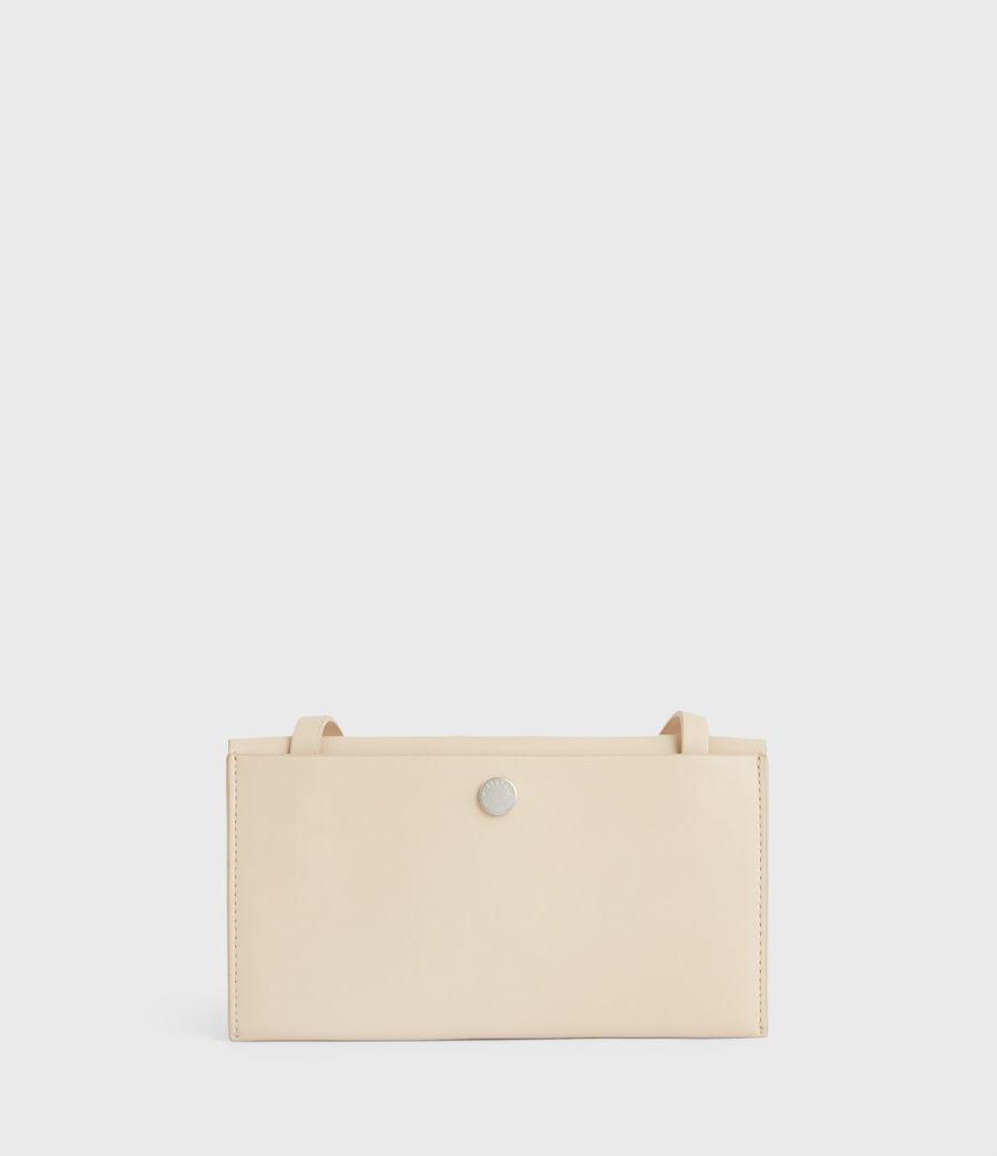 Women's Francoise Leather Crossbody Bag (parchment_white) - Image 8