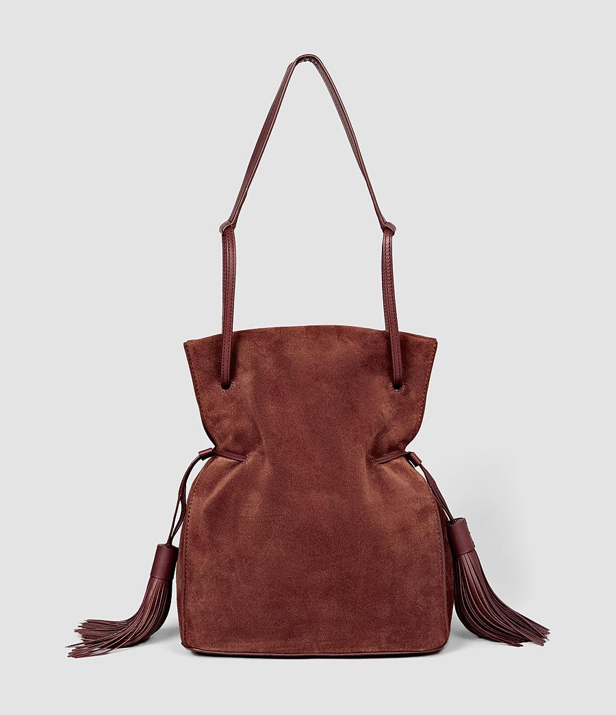 Femmes Sac seau Freedom en cuir velours (brick_brown) - Image 2