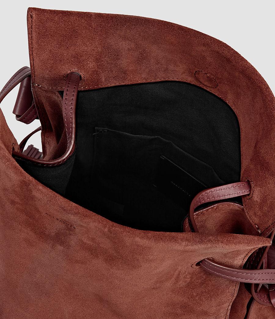Femmes Sac seau Freedom en cuir velours (brick_brown) - Image 5