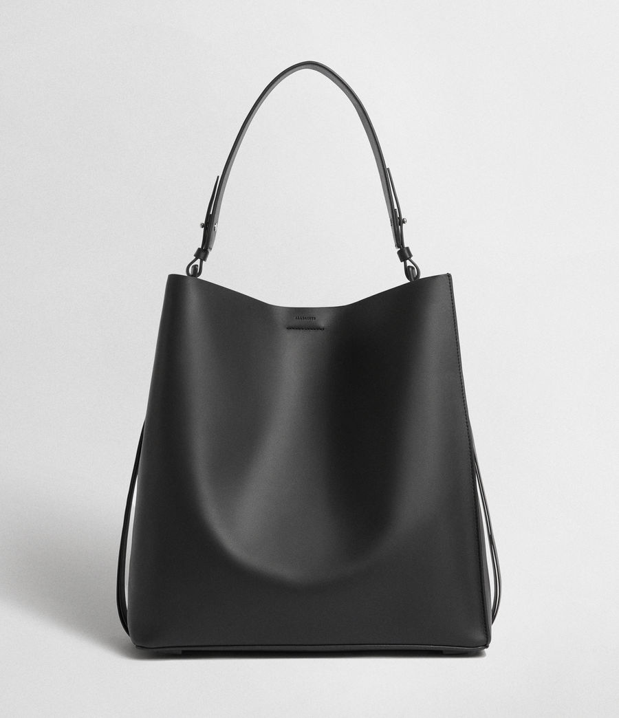 Womens Voltaire Leather North South Tote Bag (black) - Image 1